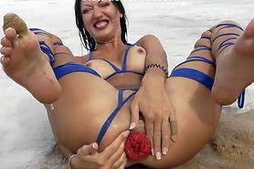 Zboczone zabawy na bałtyckiej plaży